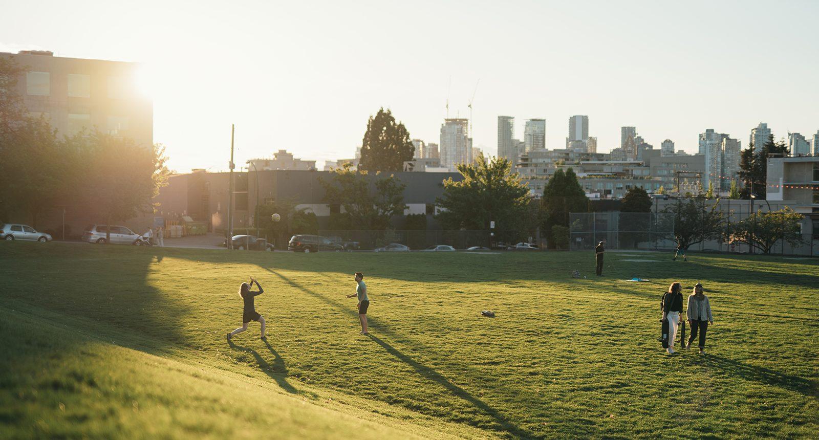 mount pleasant west park at sunset