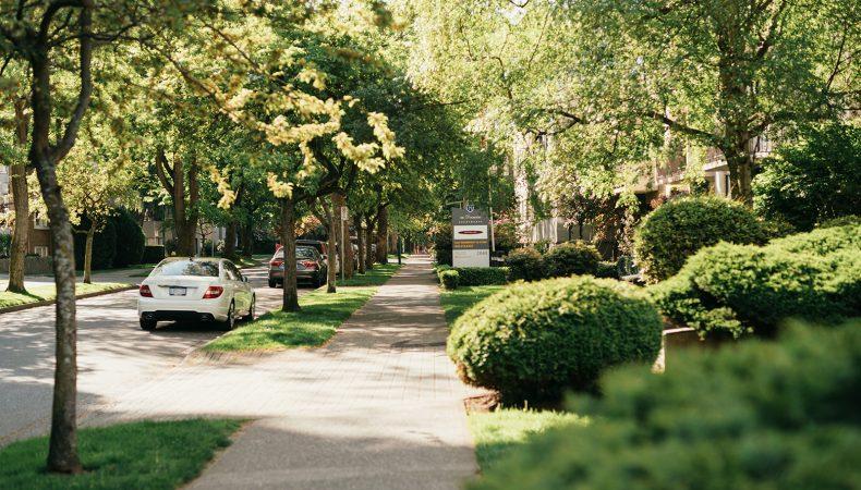 Vancouver west-end neighbourhood