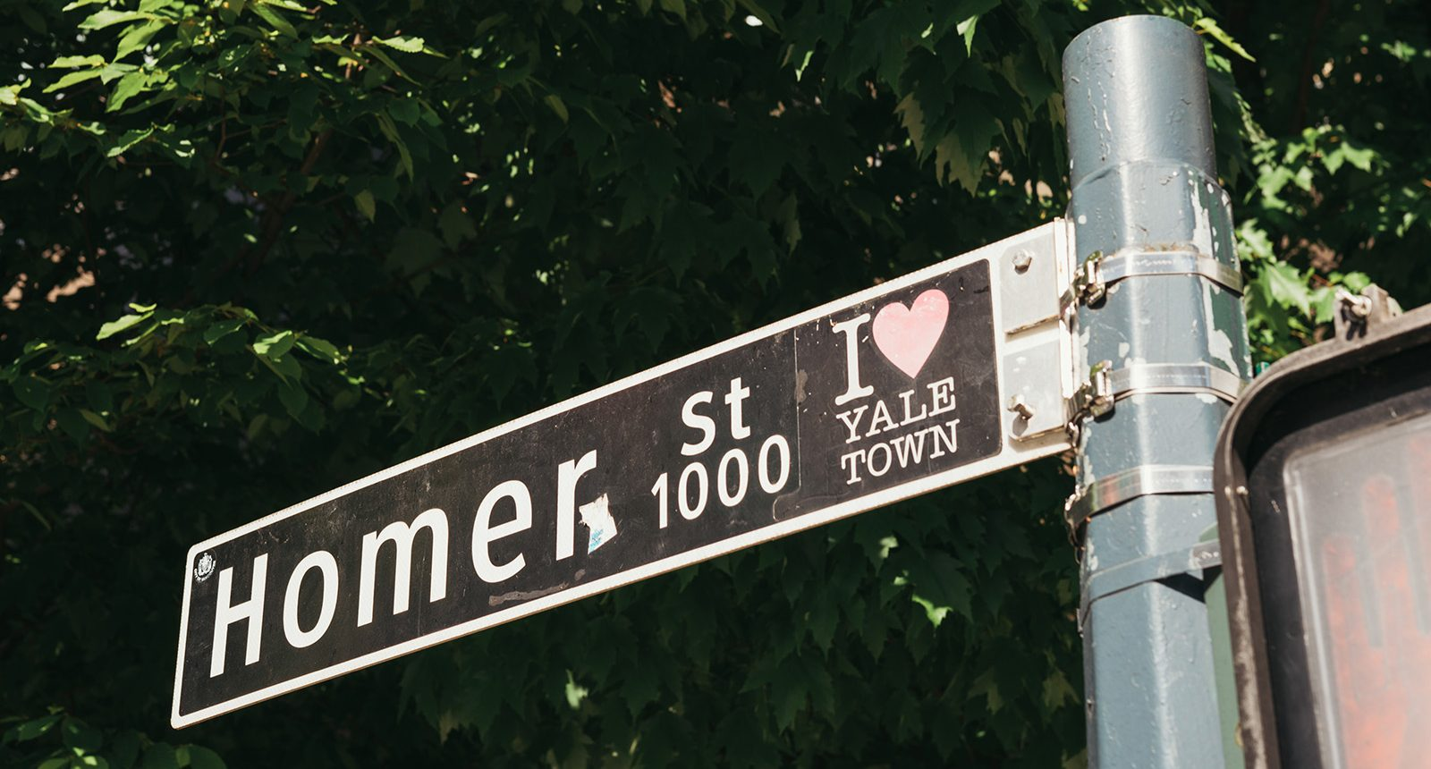 Homer street sign in Yaletown